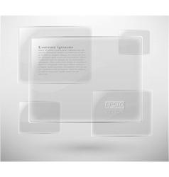 glass plane vector image