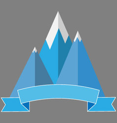 Logo mountaineering vector