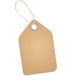 Empty cardboard tag vector