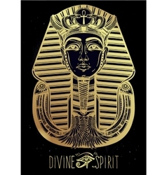 Hand-drawn vintage tattoo art of pharaoh vector