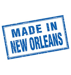 New orleans blue square grunge made in stamp vector