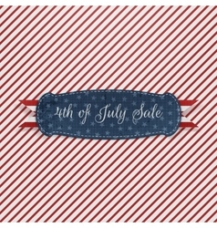 Independence day 4th of july realistic card vector