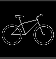 bicycle the white path icon vector image vector image