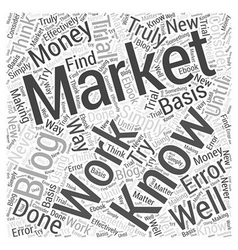 Blog marketing for money word cloud concept vector