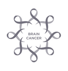 Cancer ribbon grey color vector