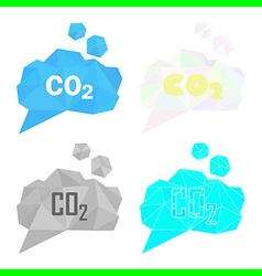 carbon dioxide cloud set vector image