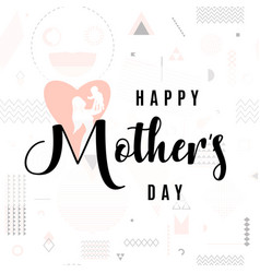 card for mother day holiday vector image vector image