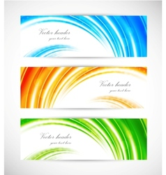 Collection of bright banners vector image vector image