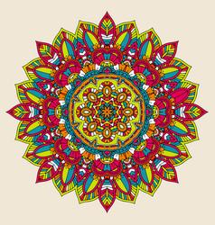 colourful mandala design vector image vector image