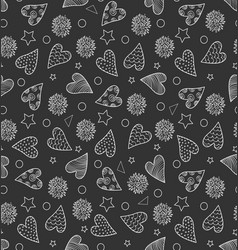 Cute pattern with hearts vector
