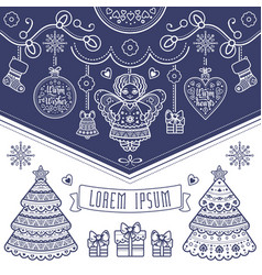 Cute textless template for christmas cards vector