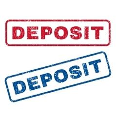 Deposit rubber stamps vector