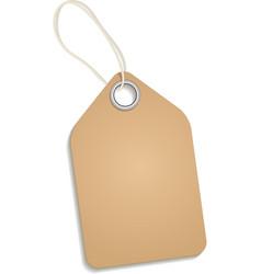 Empty cardboard tag vector image vector image