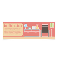 Furniture horizontal banner vector
