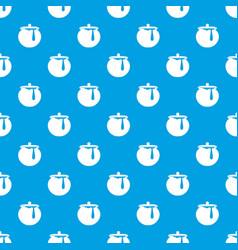 Honey pot pattern seamless blue vector