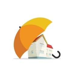 House insurance concept home real estate vector image vector image