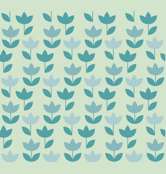 Pale color holland tulip repeatable motif simple vector