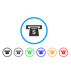 payment slot rounded icon vector image vector image