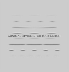 realistic dividers with shadow effect set vector image
