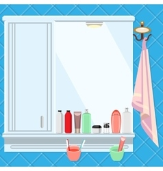 Shelves in the bathroom vector image