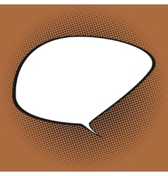 Speech Bubble on Orange Background vector image