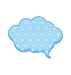 sticker callout for dialogue shape of cloud with vector image