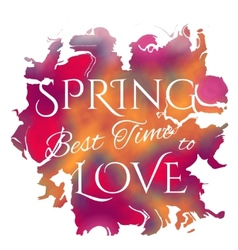 Wake up Spring is coming lettering on unfocused vector image