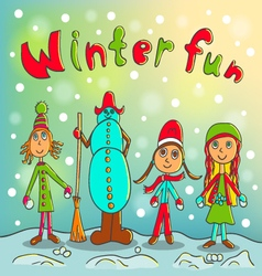 Winter fun vector image