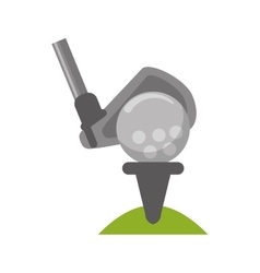Ball and club of golf sport design vector