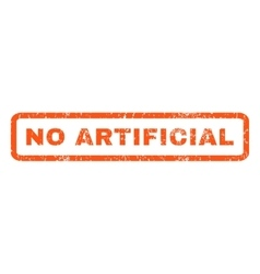 No artificial rubber stamp vector