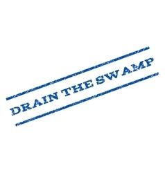 Drain the swamp watermark stamp vector
