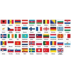 European flags icons vector