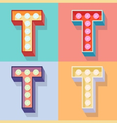 Letter t vector image