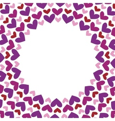 Round frame with hearts vector