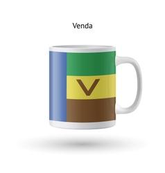 Venda flag souvenir mug on white background vector