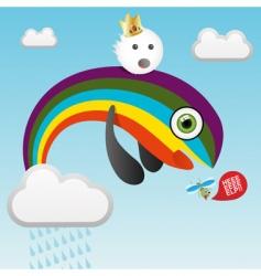 predatory rainbow vector image
