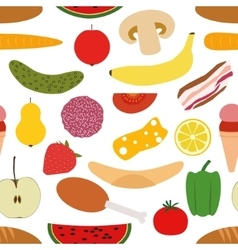 Foods seamless pattern vector