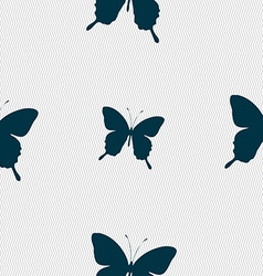 Butterfly icon sign seamless pattern with vector