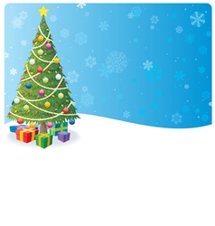 christmas tree background 1 vector image