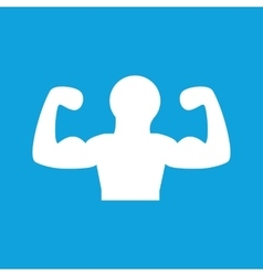 Muscular person icon simple vector