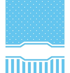 Card invitation blue vector