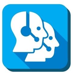 Call Center Operators Icon vector image