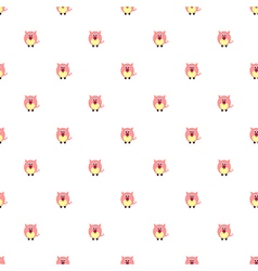 Pattern with pink pigs on the white backdrop vector