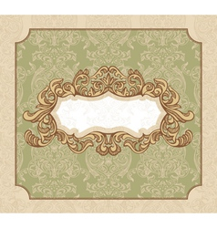 abstract royal floral vintage frame vector image vector image