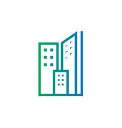 abstract skyscraper business logo vector image