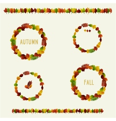 autumn leaves badges vector image vector image