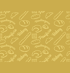 Bakery golden pattern vector