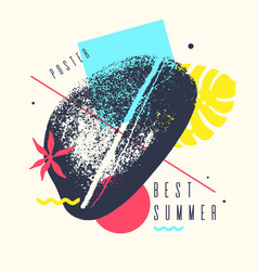 best summer day tropical exotic plants stylish vector image