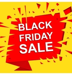Big sale poster with BLACK FRIDAY SALE text vector image