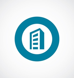 Building icon bold blue circle border vector